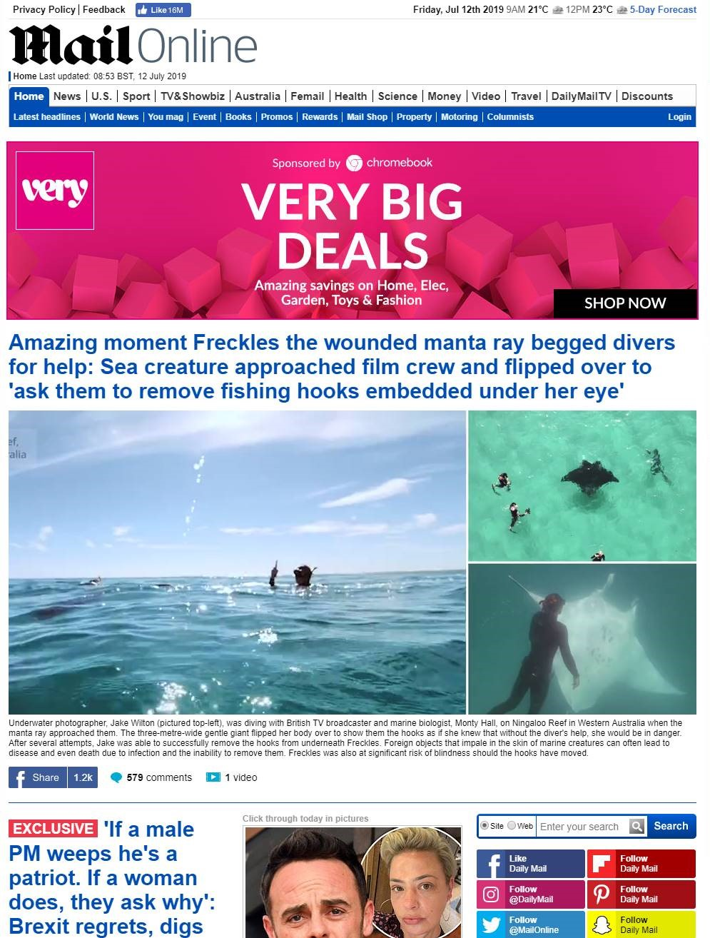 The MailOnline Tourism Western Australia Press Sell-In